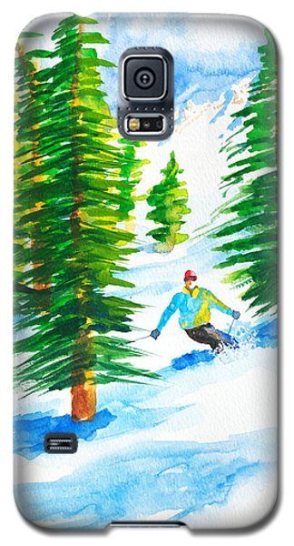 David Skiing The Trees  Galaxy S5 Case