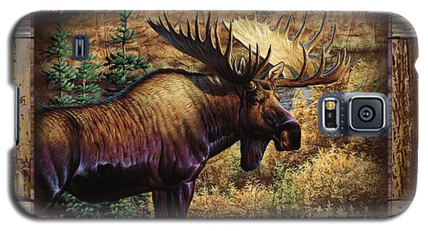 Galaxy S5 Case featuring the painting Deco Moose by Cynthie Fisher