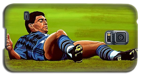 Diego Maradona 2 Galaxy S5 Case by Paul Meijering