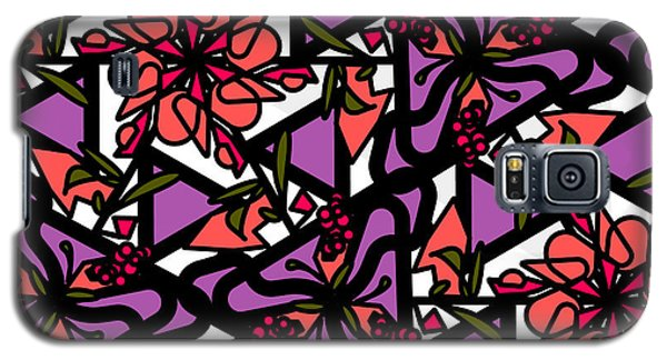 Galaxy S5 Case featuring the digital art Digi-flora by Elizabeth McTaggart