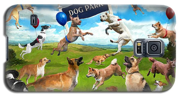 Dog Park Party Galaxy S5 Case