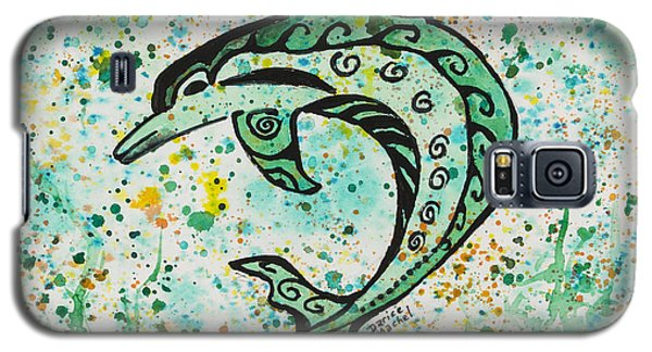 Galaxy S5 Case featuring the painting Dolphin 2 by Darice Machel McGuire