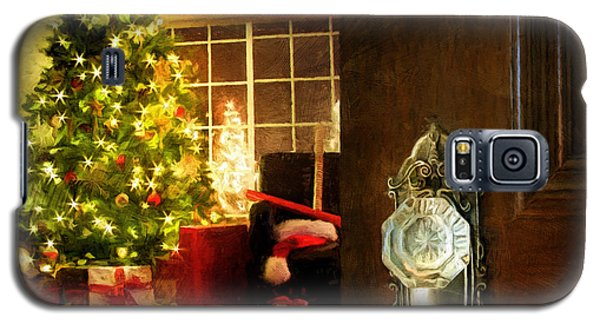 Door Opening Into A Christmas Living Room Digital Painting Galaxy S5 Case