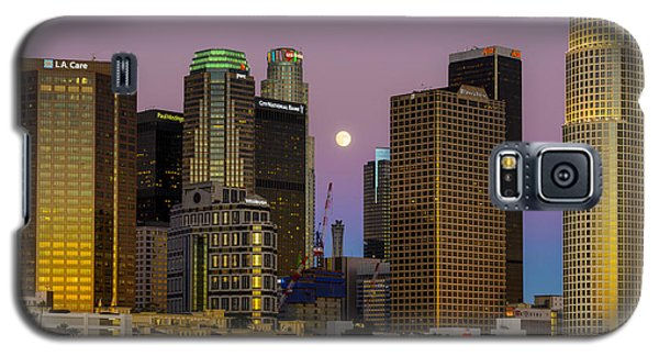 Downtown Los Angeles Moonrise Galaxy S5 Case