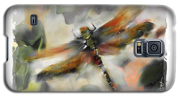 Impressionism Galaxy S5 Case - Dragonfly Garden by Bob Salo