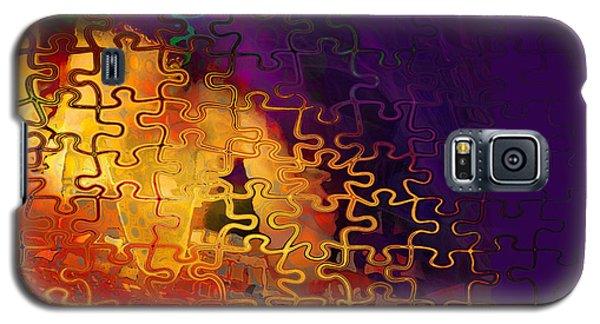 Galaxy S5 Case featuring the digital art Dragon's Teeth Puzzle by Constance Krejci