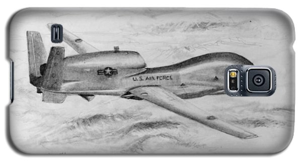Galaxy S5 Case featuring the drawing Drone Rq-4 Global Hawk by Jim Hubbard