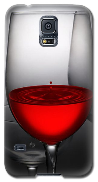 Drops Of Wine In Wine Glasses Galaxy S5 Case by Setsiri Silapasuwanchai