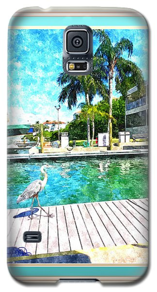 Dry Dock Bird Walk - Digitally Framed Galaxy S5 Case