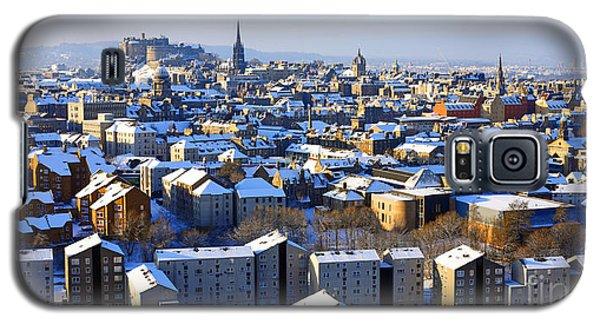 Galaxy S5 Case featuring the photograph Edinburgh Winter Cityscape by Craig B