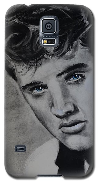 Galaxy S5 Case featuring the drawing Elvis Presley - America by Eric Dee