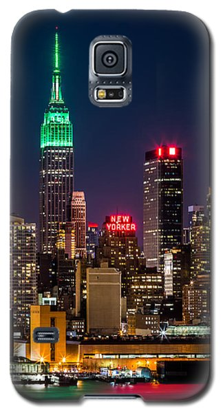 Empire State Building On Saint Patrick's Day Galaxy S5 Case
