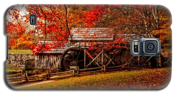 Enchanted Autumn Morning At The Mill Galaxy S5 Case