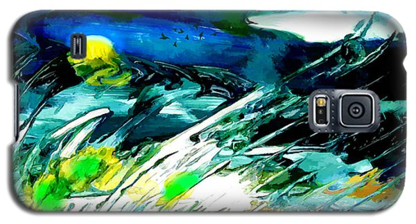 Galaxy S5 Case featuring the painting Esperanto by Ron Richard Baviello