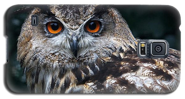 Galaxy S5 Case featuring the photograph European Eagle Owl by Nick  Biemans
