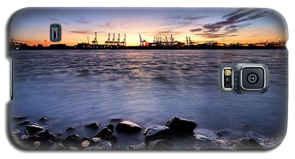 Evening At The Port Of Hamburg Galaxy S5 Case