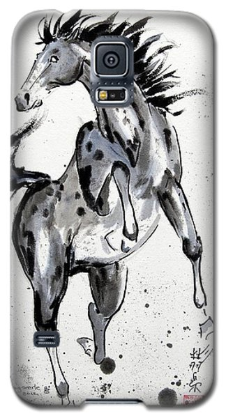 Galaxy S5 Case featuring the painting Exuberance by Bill Searle