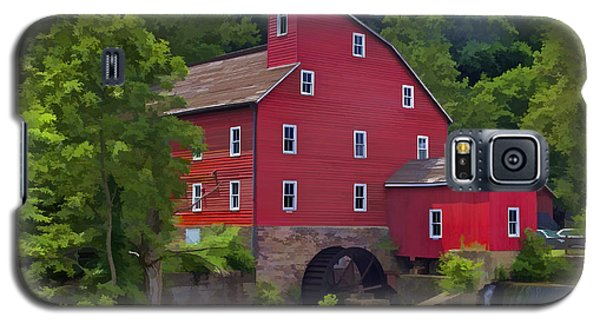 Faded Red Water Mill On The Dam Of The Raritan River Galaxy S5 Case