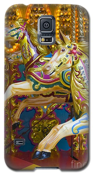Galaxy S5 Case featuring the photograph Fairground Carousel by Lee Avison