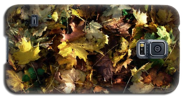 Galaxy S5 Case featuring the digital art Fallen Leaves by Ron Harpham