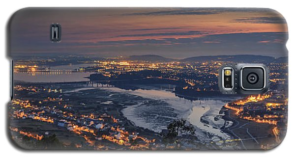 Ferrol's Ria Panorama From Mount Ancos Galicia Spain Galaxy S5 Case