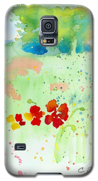Galaxy S5 Case featuring the painting Field Of Flowers by C Sitton