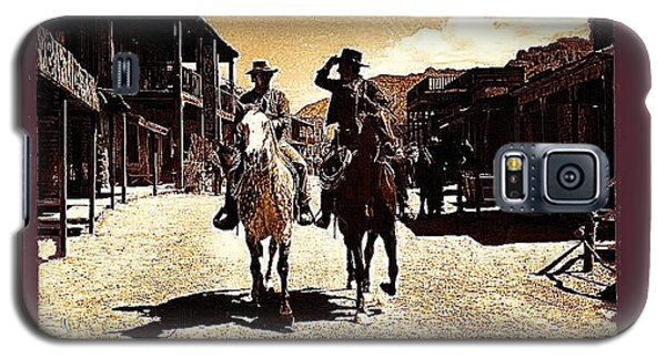 Film Homage Mark Slade Cameron Mitchell Riding Horses The High Chaparral Old Tucson Az C.1967-2013 Galaxy S5 Case by David Lee Guss