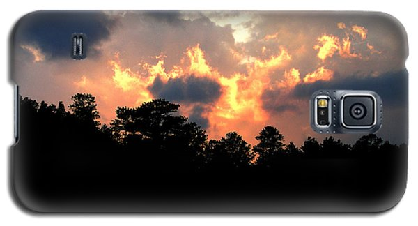 Galaxy S5 Case featuring the photograph Fire In The Sky by Craig T Burgwardt