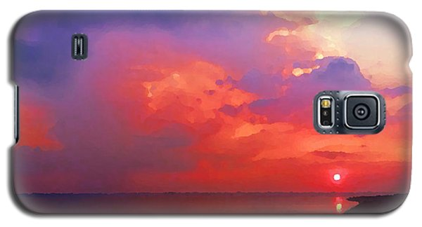 Galaxy S5 Case featuring the photograph Fire In The Sky by Holly Martinson