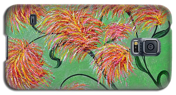 Galaxy S5 Case featuring the painting Fireworks by Alys Caviness-Gober