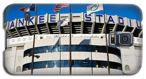 Flags In Front Of A Stadium, Yankee Galaxy S5 Case by Panoramic Images
