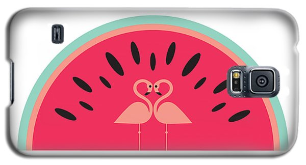 Flamingo Galaxy S5 Case - Flamingo Watermelon by Susan Claire
