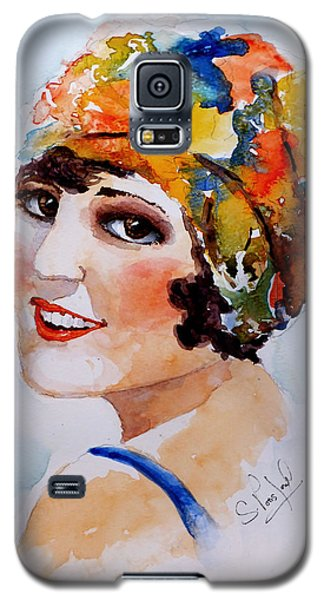 Galaxy S5 Case featuring the painting Flappers Girl by Steven Ponsford