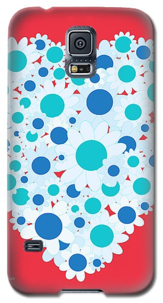 Floral Heart Galaxy S5 Case