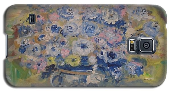 Galaxy S5 Case featuring the painting Flow Bleu by Laurie L