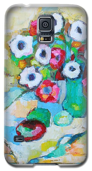 Flowers In Green Vase Galaxy S5 Case