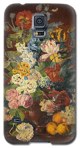 Galaxy S5 Case featuring the painting Flowers Of Light by Mary Ellen Anderson
