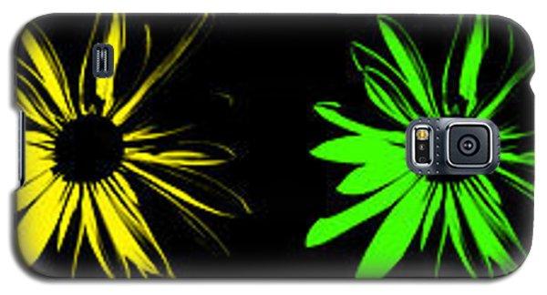 Flowers On Black Galaxy S5 Case
