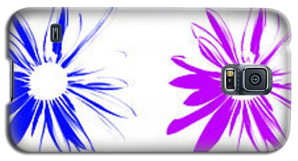 Flowers On White Galaxy S5 Case
