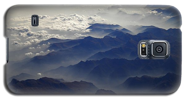Galaxy S5 Case featuring the photograph Flying Over The Alps In Europe by Colette V Hera  Guggenheim