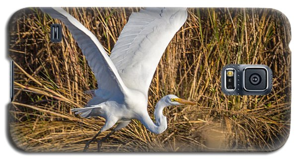 Flying White Egret Galaxy S5 Case