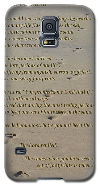 Footprints In The Sand Poem Galaxy S5 Case by Bob Sample