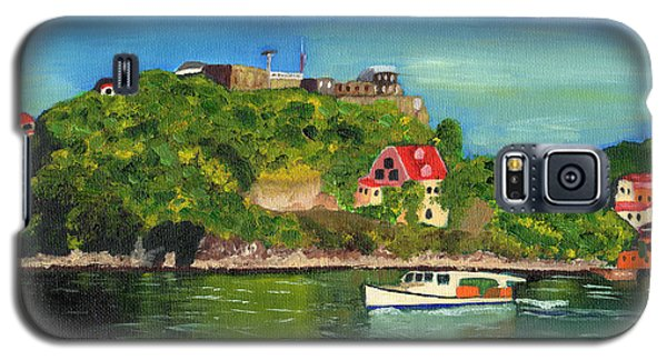Galaxy S5 Case featuring the painting Fort George Grenada by Laura Forde