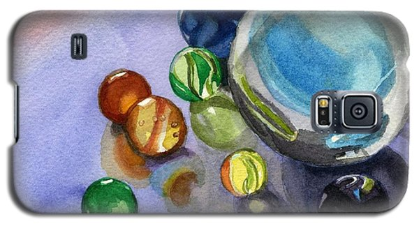 Galaxy S5 Case featuring the painting Found My Marbles by Lynne Reichhart