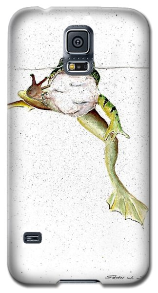 Frog On Waterline Galaxy S5 Case