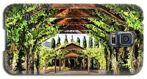 Galaxy S5 Case featuring the painting Garden by Muhie Kanawati