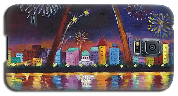 Galaxy S5 Case featuring the painting Gateway Arch by Ping Yan