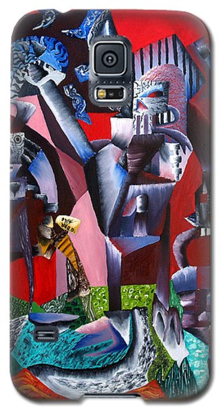 Galaxy S5 Case featuring the painting Gaungian Dimensional by Ryan Demaree