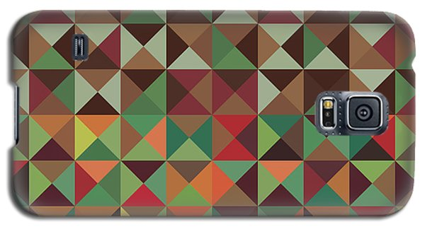 Galaxy S5 Case featuring the digital art Geometric Pattern by Mike Taylor