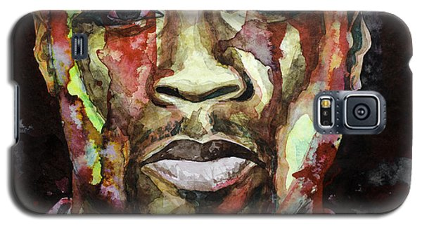 Galaxy S5 Case featuring the painting Get Rich Or Die Tryin' by Laur Iduc